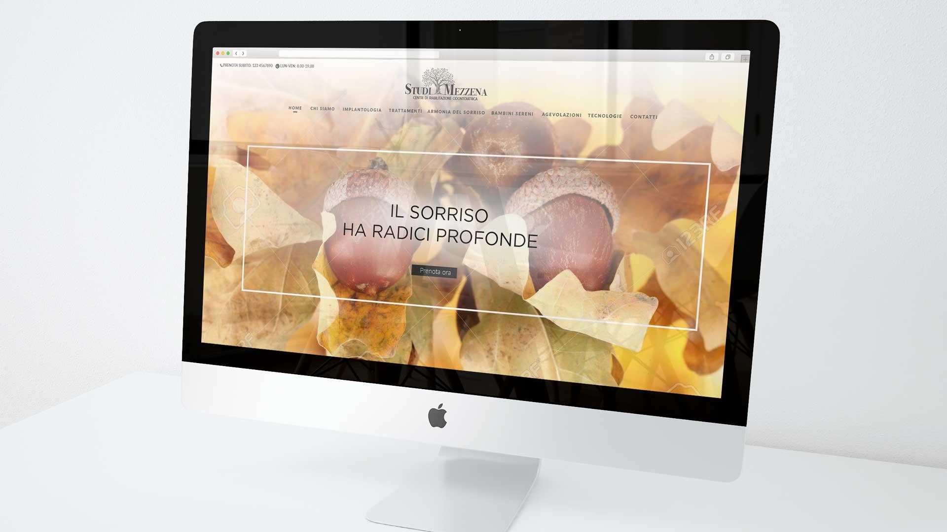 Sito web dentista 2 | Studi Mezzena | Portfolio Ideandum