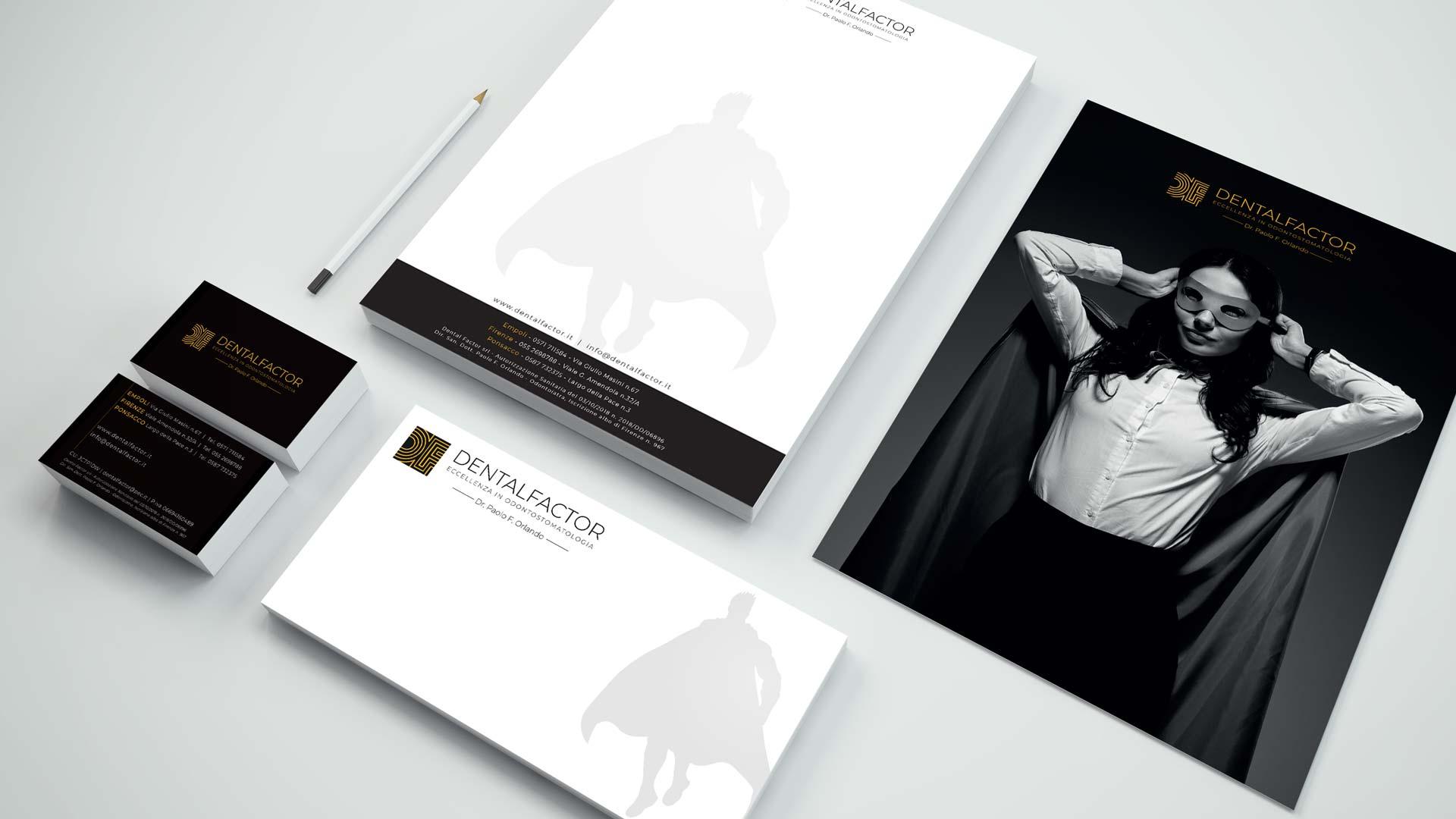 Brochure dentista | Dental Factor | Portfolio Ideandum