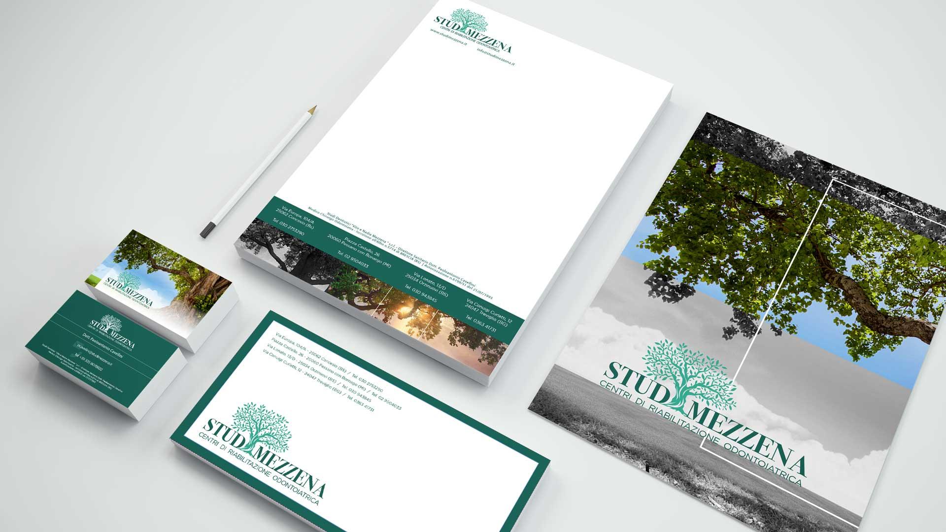 Brochure dentista | Studi Mezzena | Portfolio Ideandum