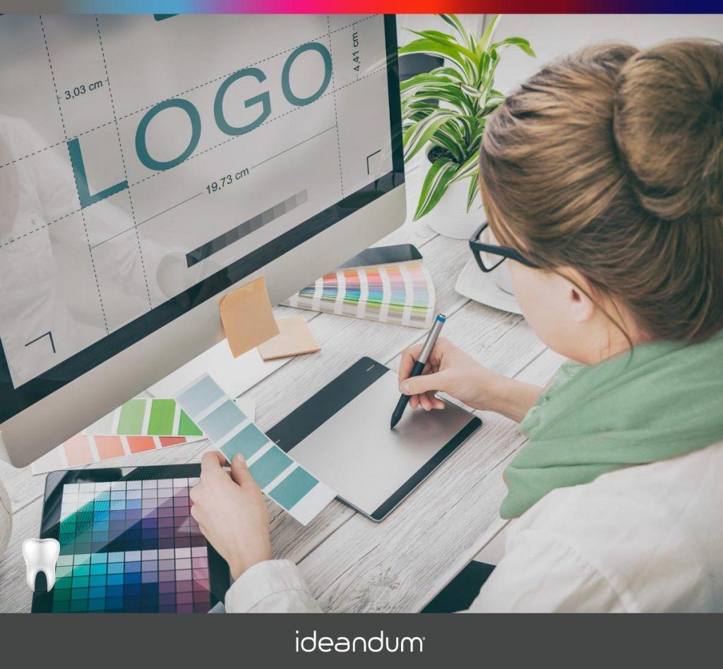 Grafica crea un logo - Marketing odontoiatrico